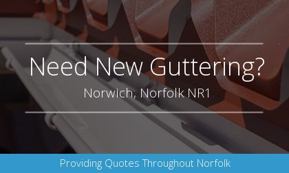 rain gutter installation in Norwich, Norfolk