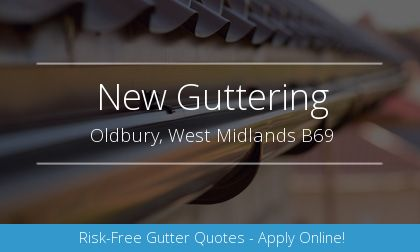 new gutter installation in Oldbury, West Midlands