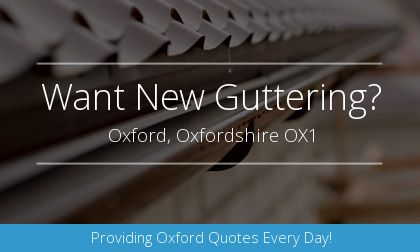 rain gutter installation in Oxford, Oxfordshire