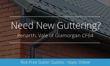 rain gutter installation in Penarth, Vale of Glamorgan