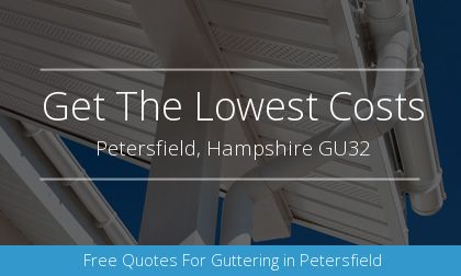 new guttering installation in Petersfield, Hampshire