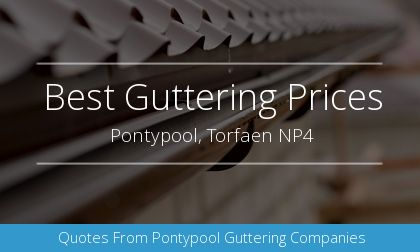 new gutter installation in Pontypool, Torfaen