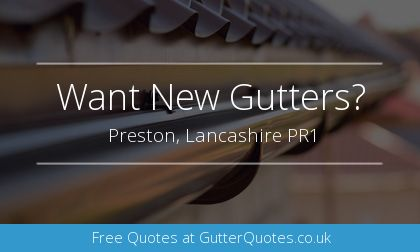 gutter installation in Preston, Lancashire