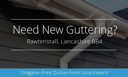 installation of gutters in Rawtenstall, Lancashire
