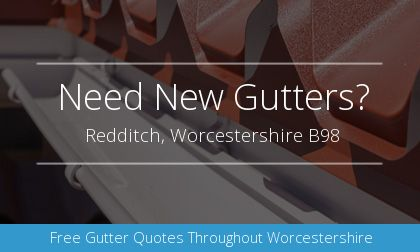 gutter installation in Redditch, Worcestershire