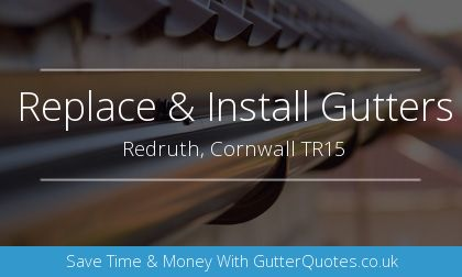 rain gutter installation in Redruth, Cornwall