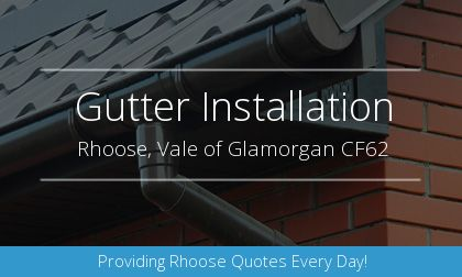 guttering installation in Rhoose, Vale of Glamorgan