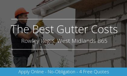 new gutter installation in Rowley Regis, West Midlands