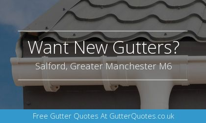 gutter installation in Salford, Greater Manchester