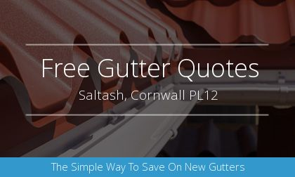 gutter installation in Saltash, Cornwall