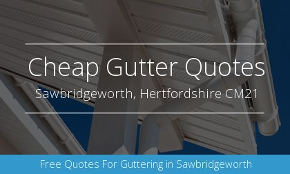 new gutter installation in Sawbridgeworth, Hertfordshire