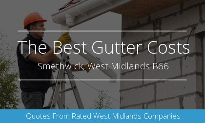 rain gutter installation in Smethwick, West Midlands