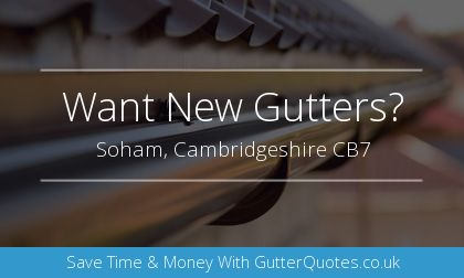 rain gutter installation in Soham, Cambridgeshire