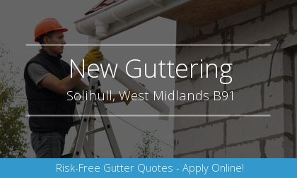 rain gutter installation in Solihull, West Midlands