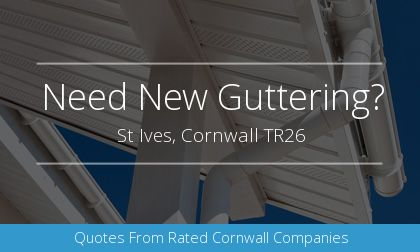gutter installation in St Ives, Cornwall