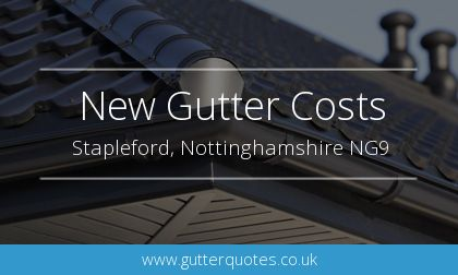 new gutter installation in Stapleford, Nottinghamshire