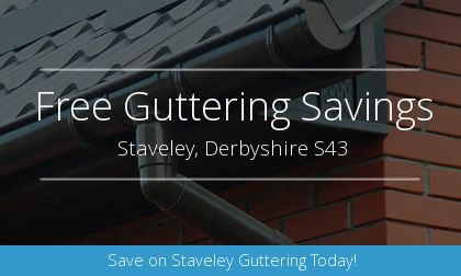 installation of gutters in Staveley, Derbyshire