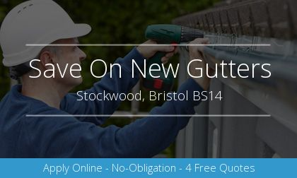 rain gutter installation in Stockwood, Bristol