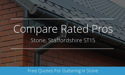 guttering installation in Stone, Staffordshire