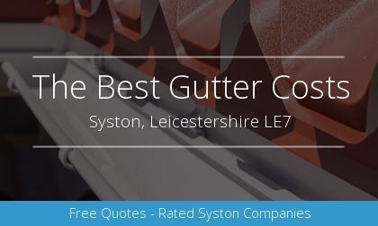 gutter installation in Syston, Leicestershire