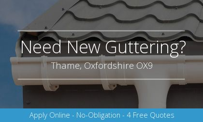 guttering installation in Thame, Oxfordshire