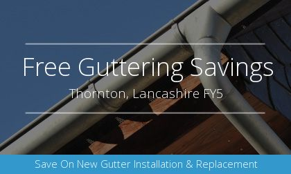new guttering installation in Thornton, Lancashire