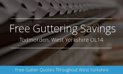 installation of gutters in Todmorden, West Yorkshire