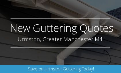 installation of gutters in Urmston, Greater Manchester