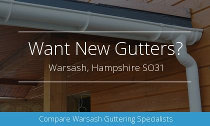 gutter installation in Warsash, Hampshire