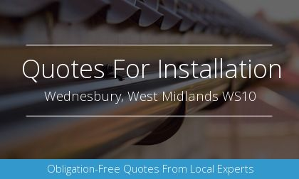 installation of gutters in Wednesbury, West Midlands