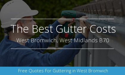 new guttering installation in West Bromwich, West Midlands