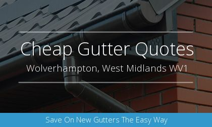 rain gutter installation in Wolverhampton, West Midlands