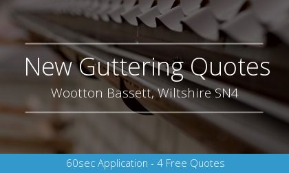 new gutter installation in Wootton Bassett, Wiltshire