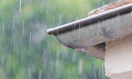 determine rainfall for the size of guttering