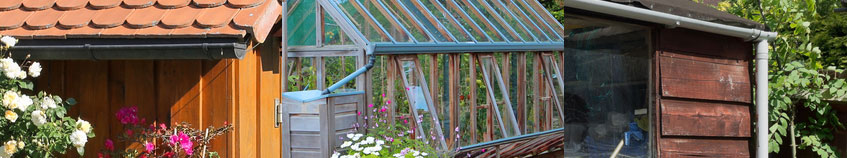 mini guttering for sheds and greenhouses