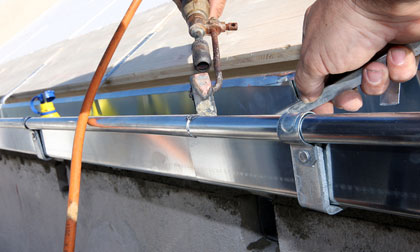 professional gutter installation costs