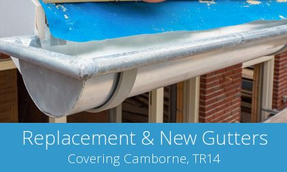 gutter replacement in Camborne, Cornwall
