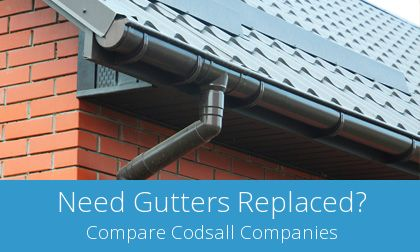 gutter replacement in Codsall, Staffordshire