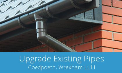 gutter replacement in Coedpoeth, Wrexham