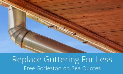 replacing Gorleston-on-Sea gutters