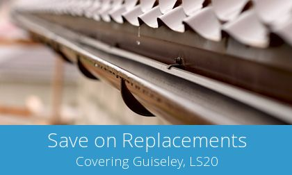 gutter replacement in Guiseley, LS20