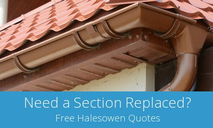 Halesowen replacement gutter costs