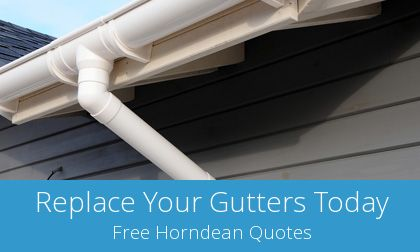 gutter replacement in Horndean, Hampshire