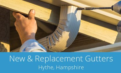 gutter replacement in Hythe