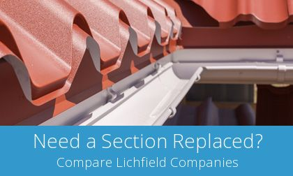 costs for gutter replacement in Lichfield