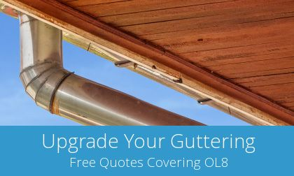 gutter replacement in Oldham, OL8
