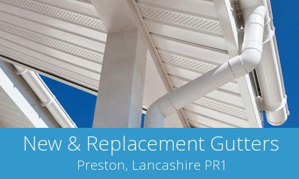 compare Preston gutter replacement quotations