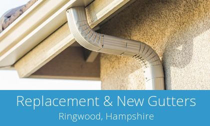 gutter replacement in Ringwood, BH24