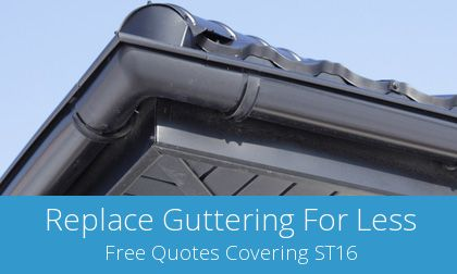 Stafford replacement gutter costs