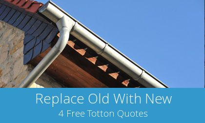 costs for gutter replacement in Totton